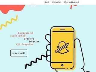 Buddybrand sucht Creative Director per Snapchat