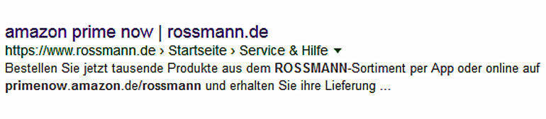 rossmann wird teil von amazon prime now w v. Black Bedroom Furniture Sets. Home Design Ideas