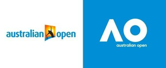 Redesign der Australian Open: Rechts das neue Logo von Landor.