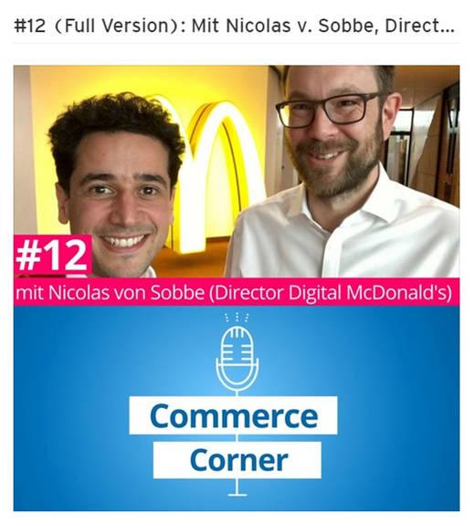 Nicolas von Sobbe (r.) im Gespräch mit E-Commerce-Podcaster Armand Farsi (Commerce Corner).