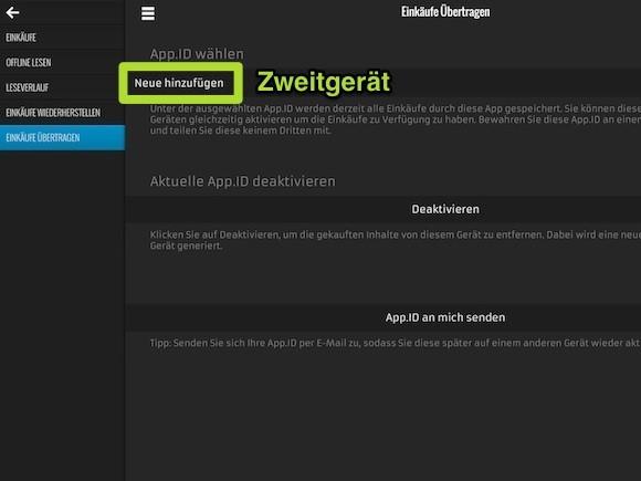 Screenshot Einkäufe übertragen 2