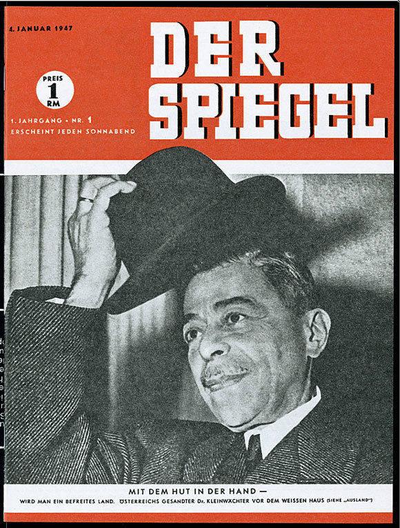 """Die erste Ausgabe vom """"Spiegel"""", sie kostete 1 Reichsmark (Motiv: Verlag)."""