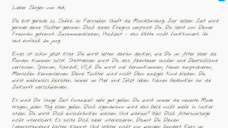 Briefe Schreiben Hochzeit : Achtung altersarmut die youtube spots der stuttgarter