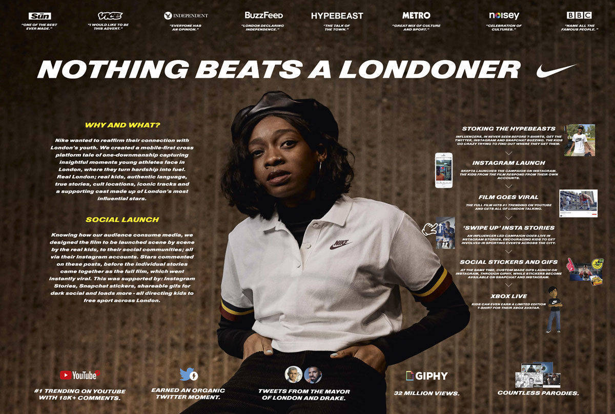 Nike: Nothing beats a Londoner, Grand Prix in Cannes 2018