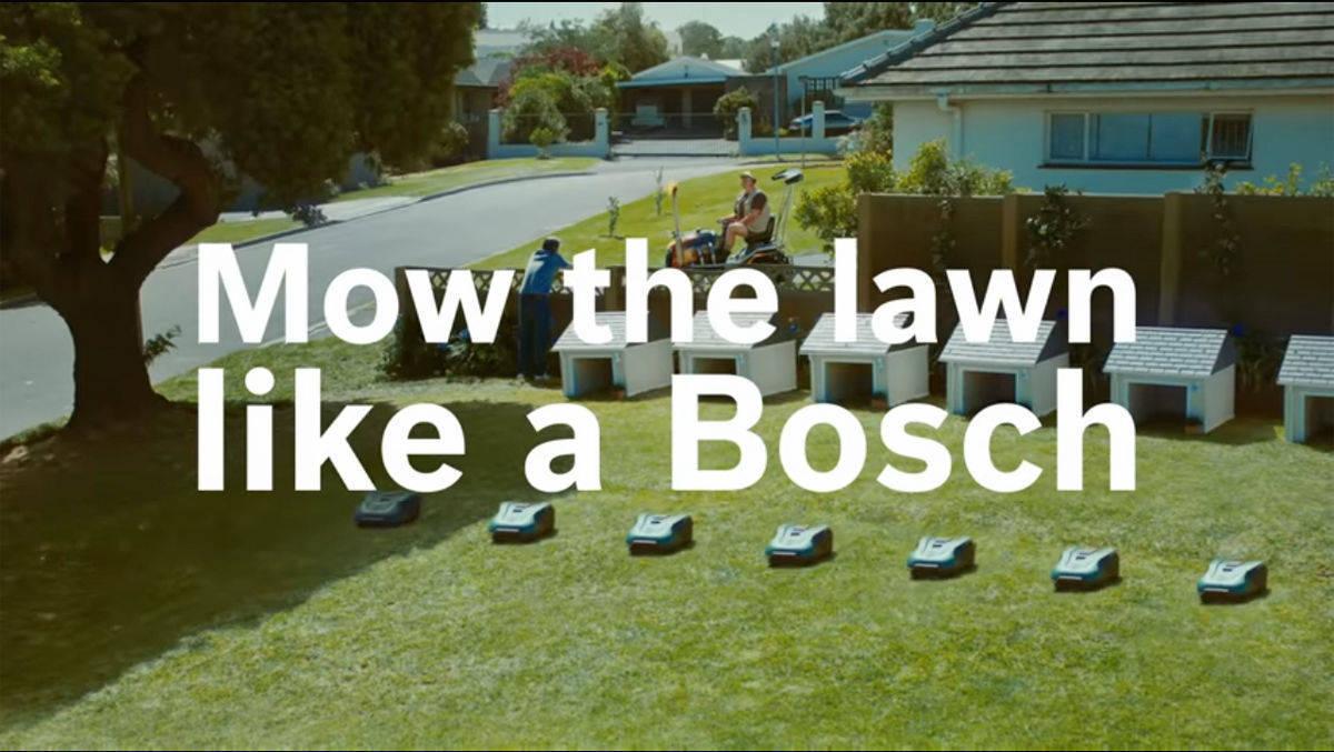 Jung von Matt für Bosch: Aufmarsch der Mähroboter