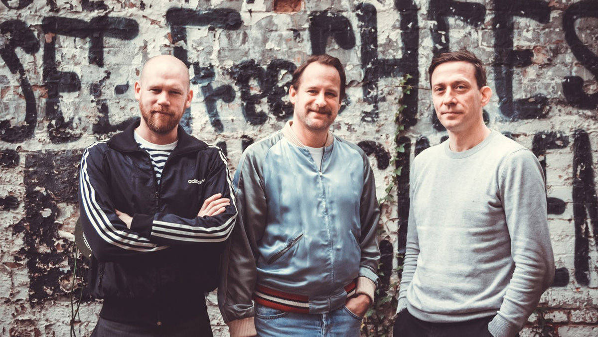 Kreatives Trio: George Gremin, Mark Hendy und Gunther Osburg (vlnr)