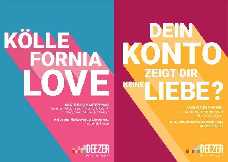 "Motive der Kampagne ""Love is in the Ear"""