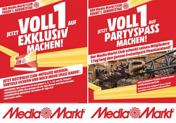 Printmotive zum Geburtstag des Media-Markt-Kundenklubs von Zum roten Hirschen.