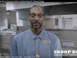Snoop Dogg und das perfekte Trainings-Video für Burger King