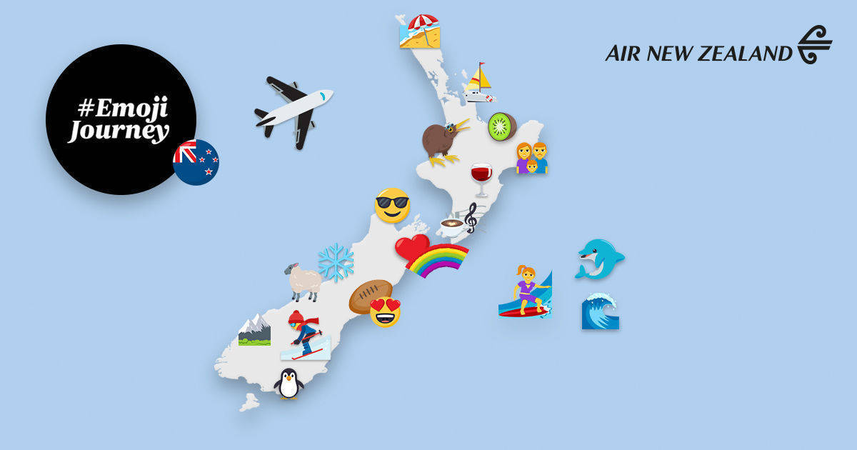 New Zealand Facebook: Air New Zealand Bietet Personalisierte Emoji-Reise
