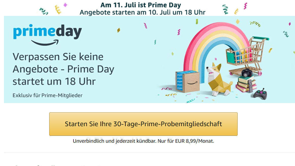 "Amazon lockt mit dem ""Prime Day""."