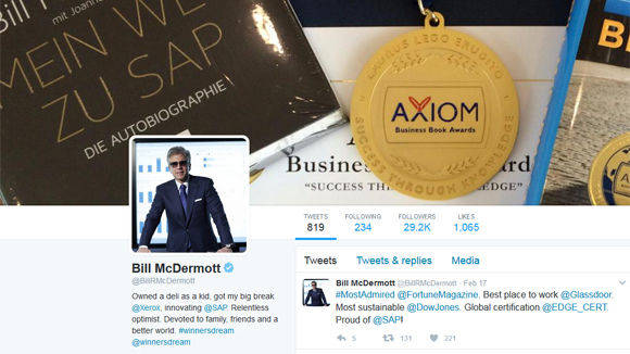 SAP-Chef Bill McDermott twittert.