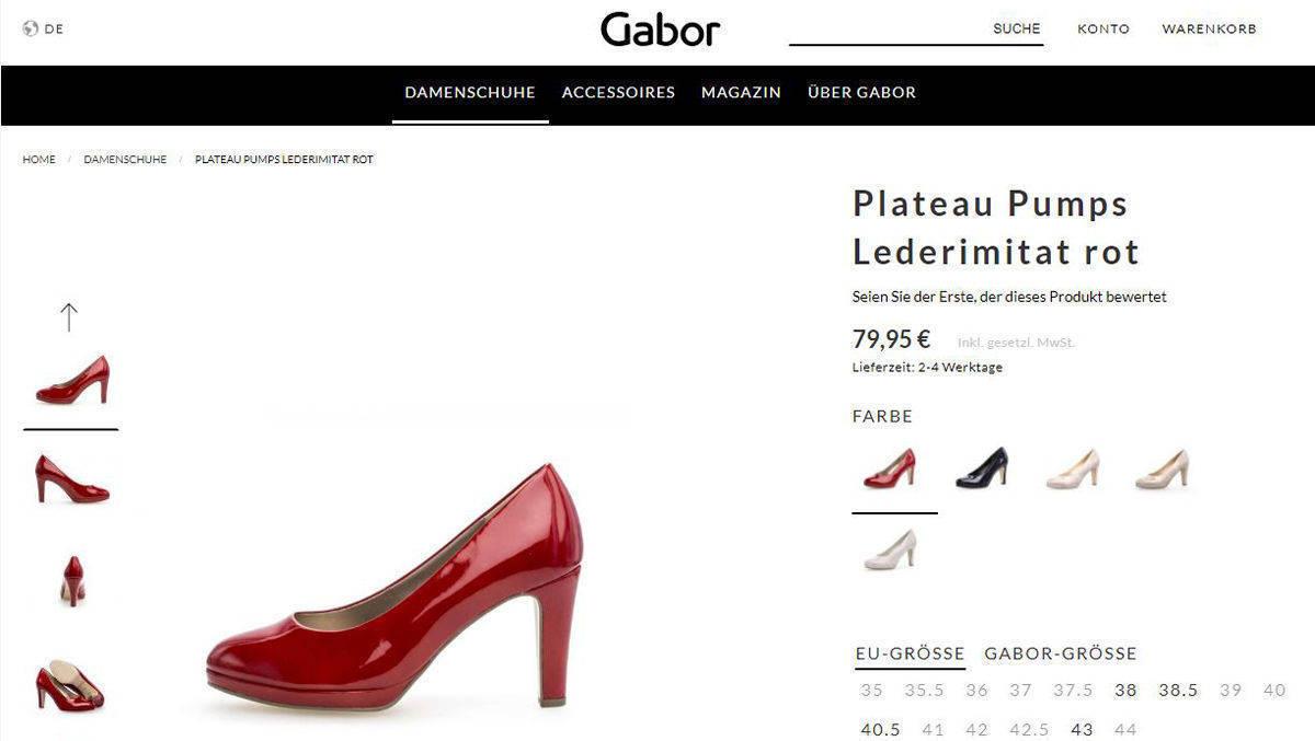Schuhe gabor online shop
