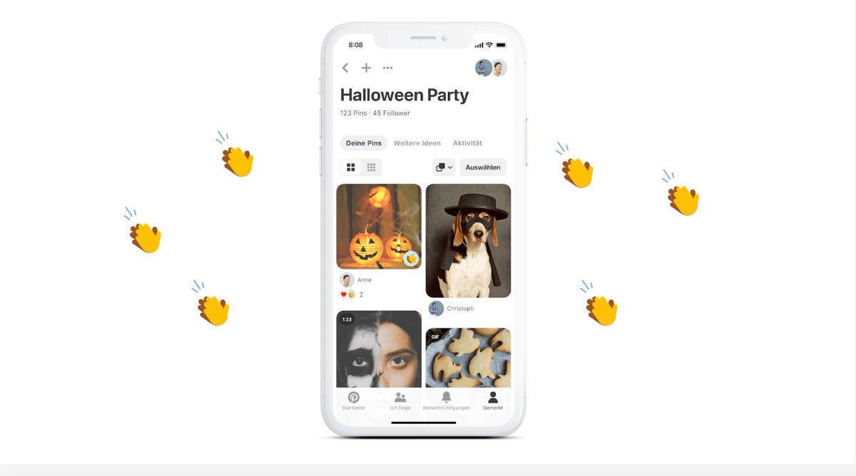 Neue Pinterest-Features für die Gruppenarbeit