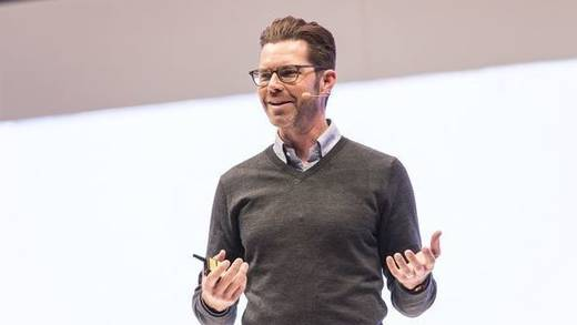 Jim Squires (Head of Business Instagram) bei seiner DMEXCO-Keynote