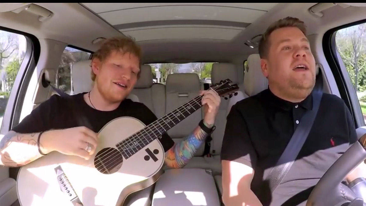 Ed Sheeran beim Carpool-Karaoke.