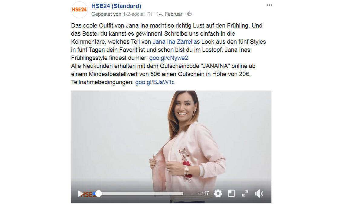 Jana Ina Zarella in  HSE24-Mode.