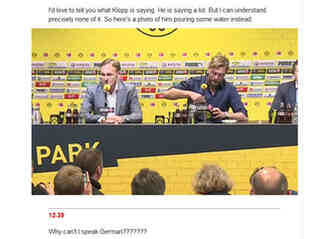 """Why can't I speak German???????""-  Klopp bringt UK-Reporter ins Schwitzen"
