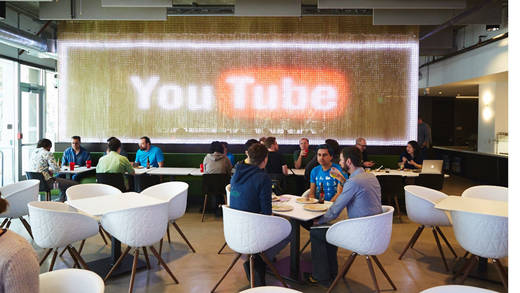 Youtube-Cafe bei Google. Foto: Youtube.