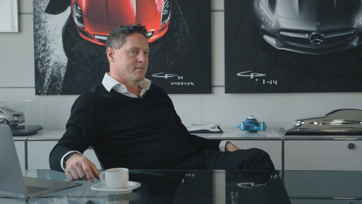 Gorden Wagener, Chief Design Officer bei Daimler, in seinem Atelier.
