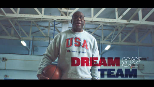 Magic Johnson war der Star des US-Dream-Teams, das 1992 Gold in Barcelona gewann.