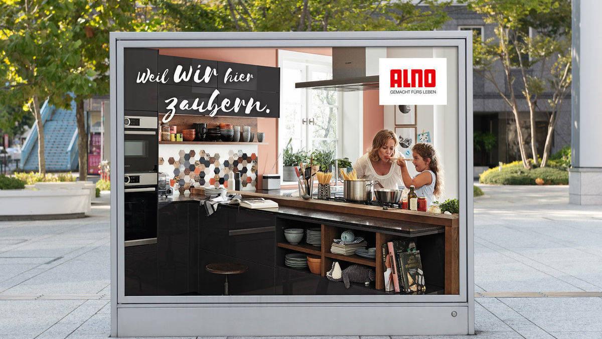 der k chenhersteller alno meldet sich mit neuer kampagne zur ck w v. Black Bedroom Furniture Sets. Home Design Ideas