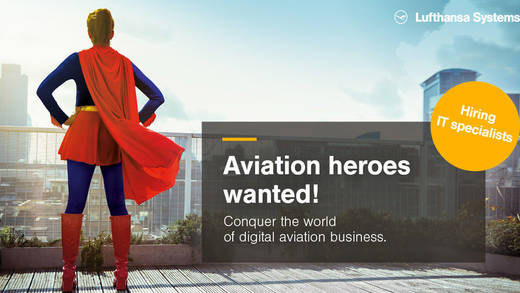Lufthansa Systems sucht Aviation Heroes mit IT-Superkräften
