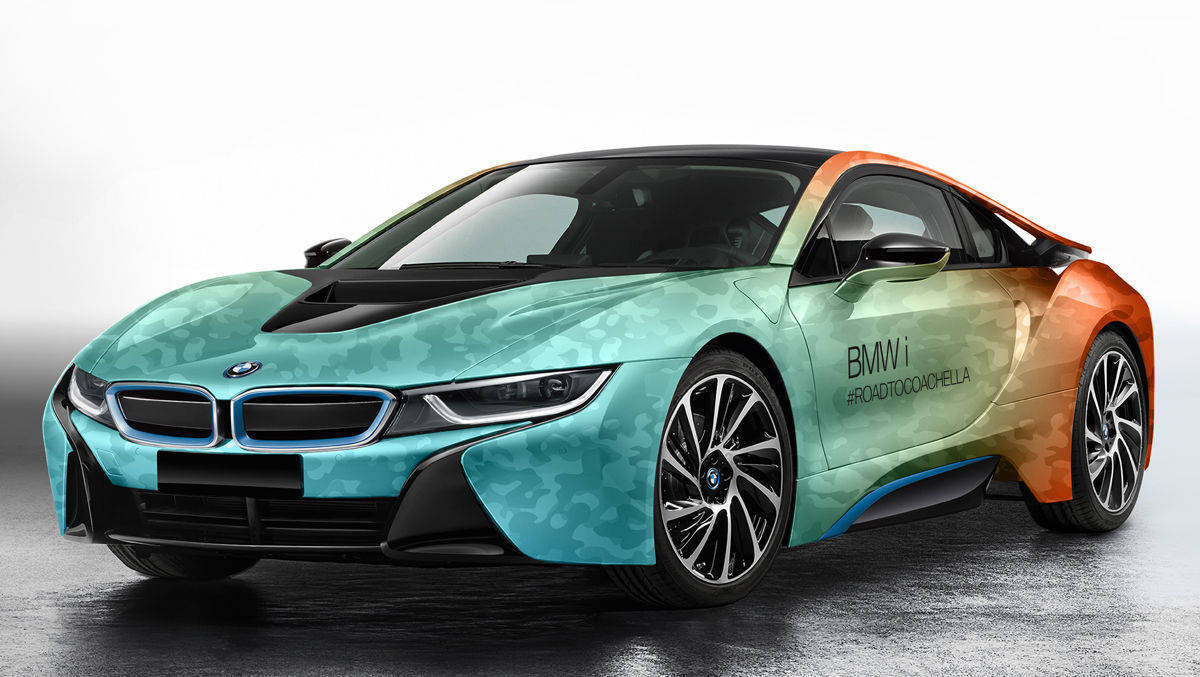 BMW i 8 im Coachella-Design.