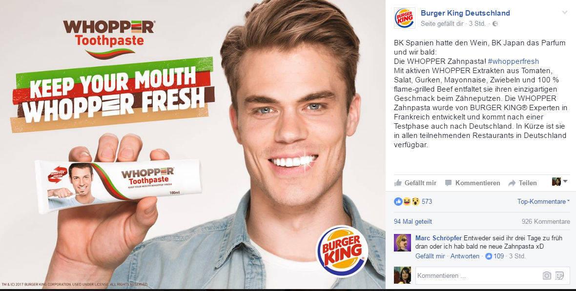Bildergebnis für whopper zahnpasta