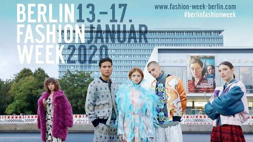 So sah es 2020 aus, das Keyvisual der Berlin Fashion Week.