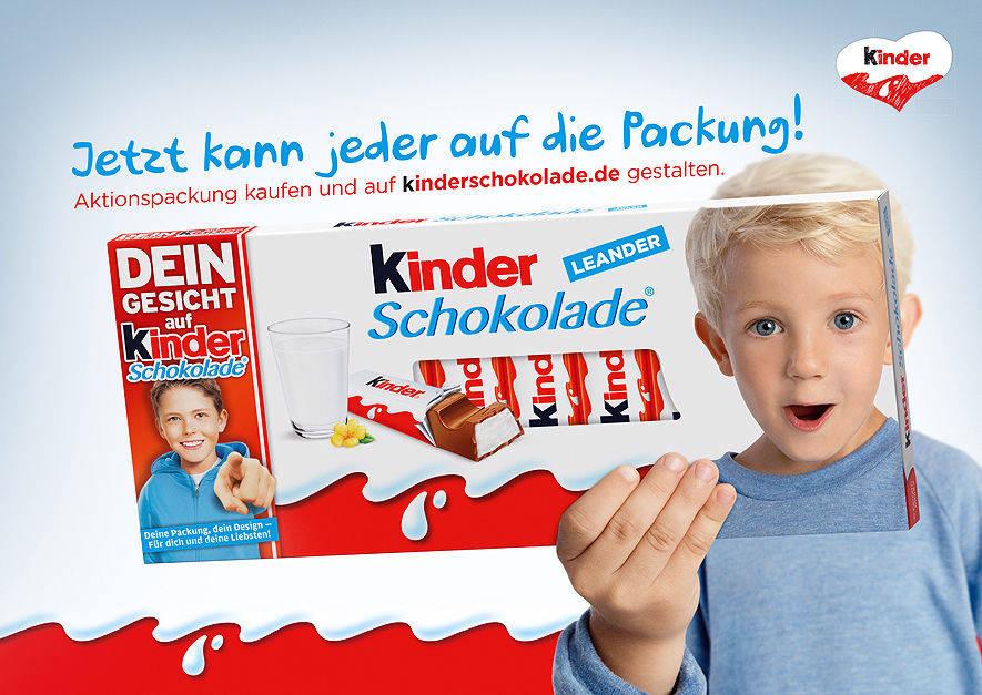 Werbeanzeigen Schokolade