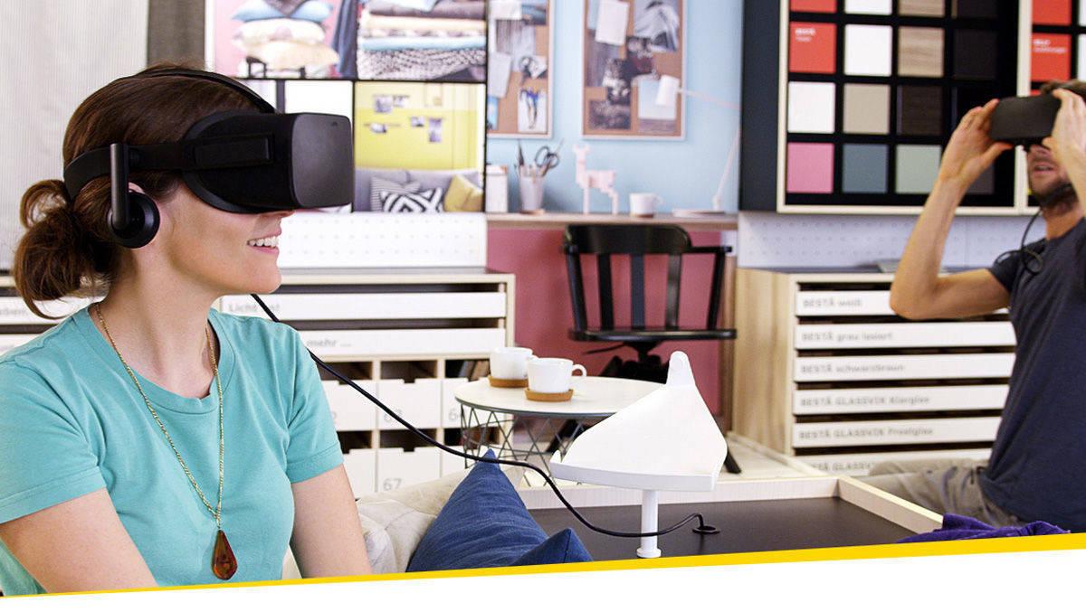 ikea l sst kunden mit virtual reality durch die einrichtung schlendern w v. Black Bedroom Furniture Sets. Home Design Ideas
