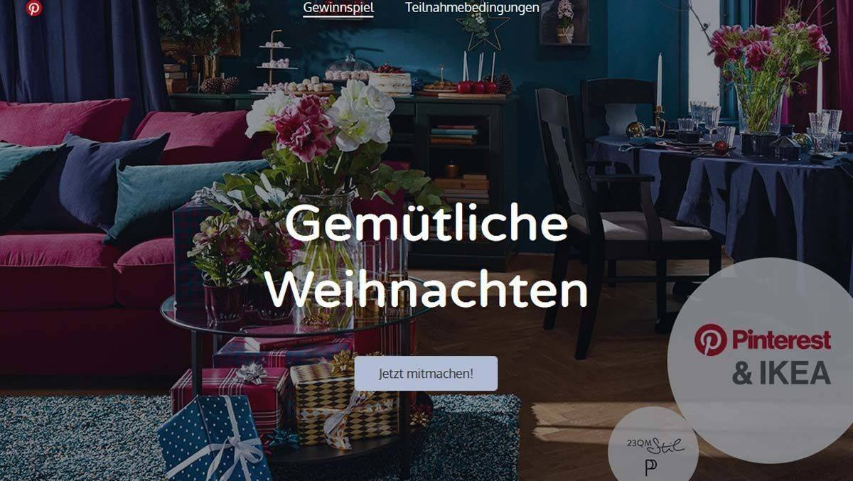Ikea Lässt Weihnachtswohnzimmer Bei Pinterest Planen Wv