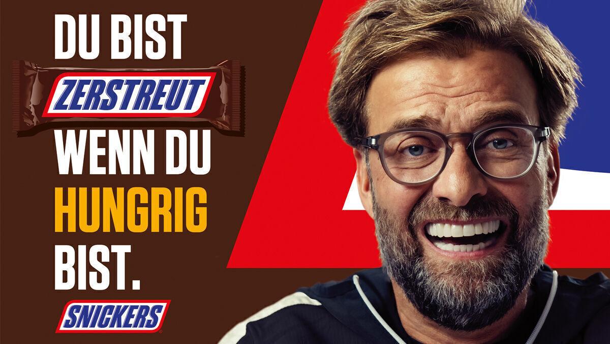 Kampagne Jurgen Klopp Kickert Jetzt Fur Snickers W V
