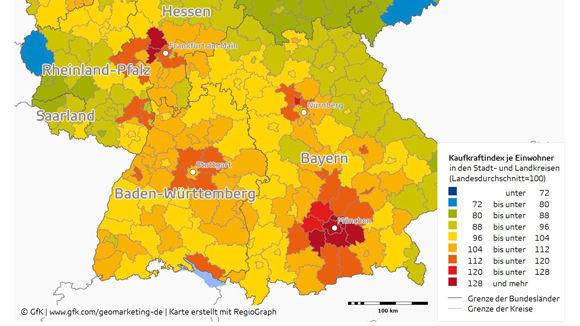 Kaufkraft Studie Die Reichsten Stadte Und Landkreise W V