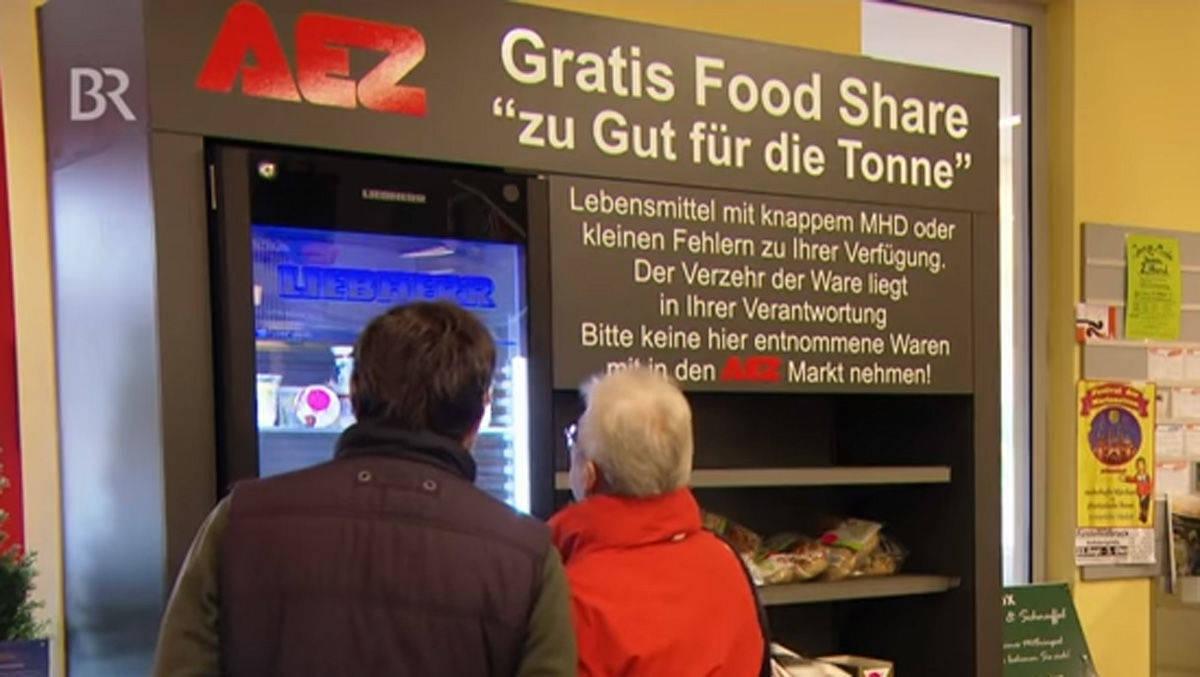 Rewe Und Aez Kostenloses Food Sharing Im Supermarkt Wv