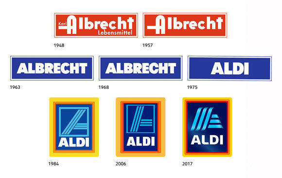 so sieht das neue logo von aldi s d aus w v. Black Bedroom Furniture Sets. Home Design Ideas