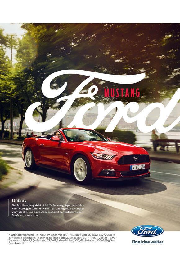 So Unbrav Wirbt Ford Für Den Mustang Wv
