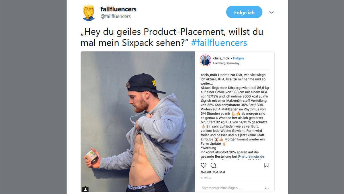 Twitter-Account macht sich über Influencer lustig