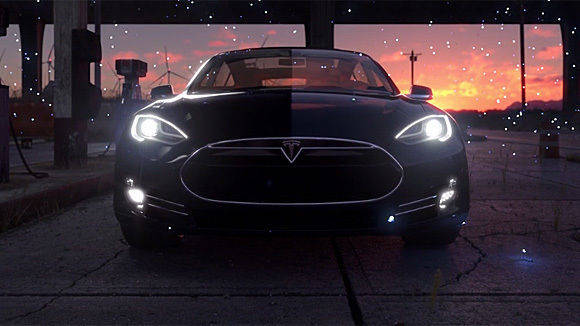 Fan-Hommage an Tesla in CG.