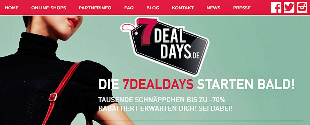 Die 7DealDays locken Käufer im Juni.