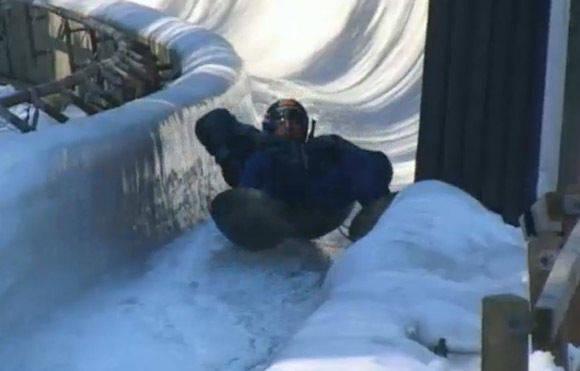 2003 wollte Raab unbedingt mit Wokpfannen in den Eiskanal.