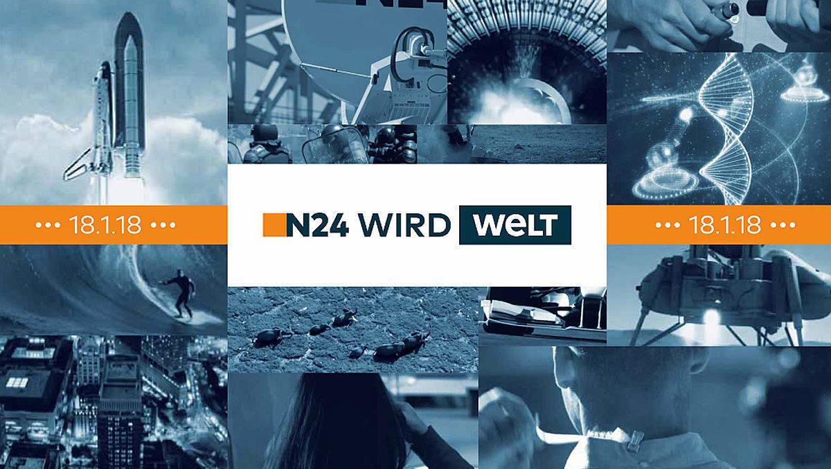Neuer Name: Im kommenden Jahr wird aus N24 WELT