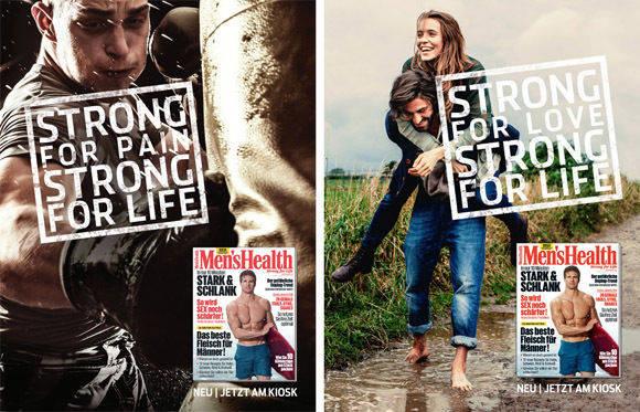 """Die """"Men's Health""""-Kampagne von KNSK."""