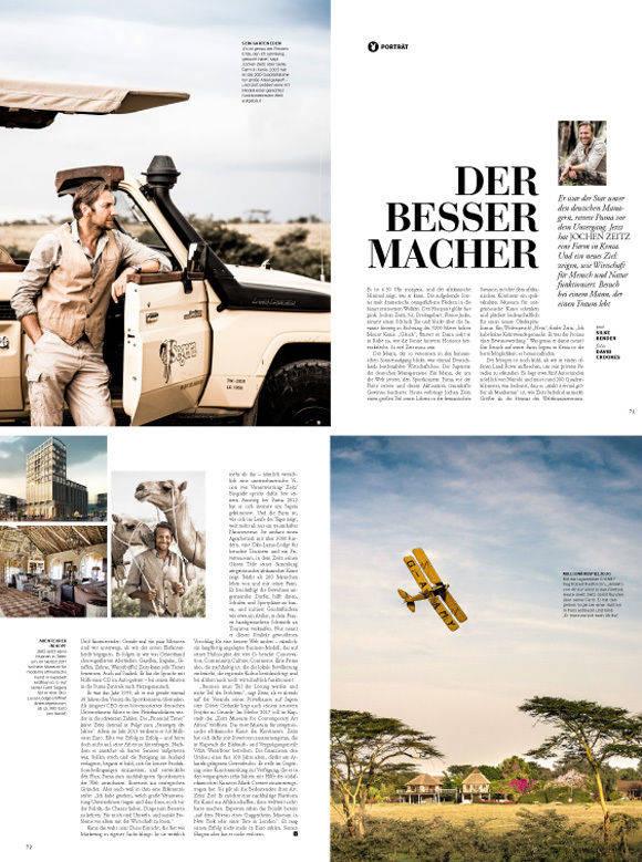 """Jochen Zeitz, einst Puma-Retter, lebt nun in Kenia seinen Traum (Seiten aus dem neuen """"Playboy"""")."""