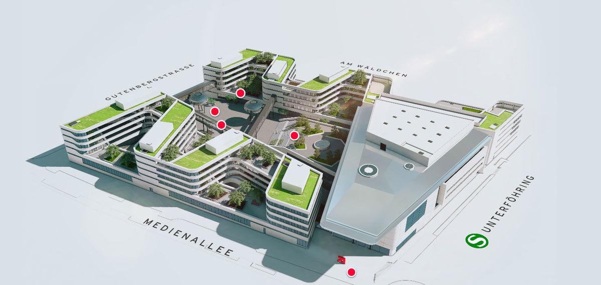prosiebensat 1 beginnt mit bauarbeiten f r neue firmenzentrale w v. Black Bedroom Furniture Sets. Home Design Ideas