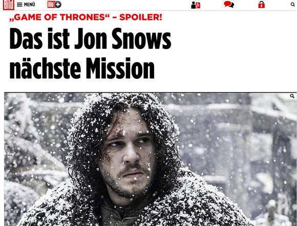 Schon im Titel ein Hinweis - aber manchmal leiten einen Anrisse im Web auf eine Nachricht, die man lieber verpassen wollte. (Bild.de)