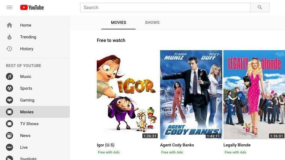 15183ff81ad Werbefinanziert und daher für die Nutzer gratis  Das neue Youtube- Filmangebot.