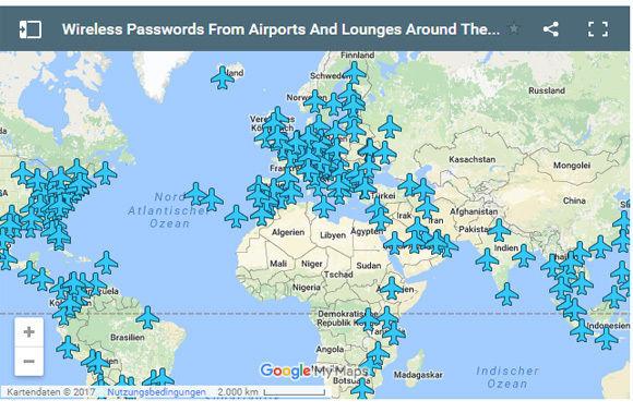 flughäfen china karte Praktische Karte mit Wifi Übersicht für Flughäfen weltweit   W&V
