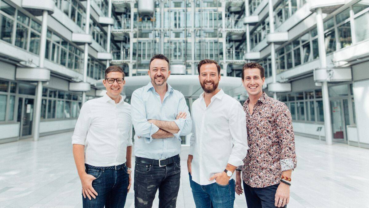 V.l.: Florian Lichtwald (MD, Chief Data Partnerships Officer), Daniel Heer (CEO & Gründer), Stefan Blumenthal (Country Manager DACH), Oliver Kanders (Chief Client Officer)